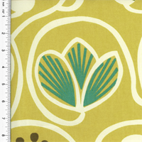 *2 YD PC - Designer Cotton Green Floral Print Home Decorating Fabric