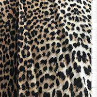 Golden Brown/Black Leopard Print Thermal Knit