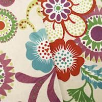*1 1/2 YD PC - Designer Cotton Multi Floral Print  Decorating Fabric