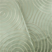 *5 YD PC - Light Sage Green/Ivory Embroidered Satin Home Decorating Fabric