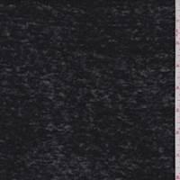 Black Slubbed Sweater Knit
