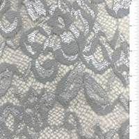 Silver Scalloped Stretch Lace Bolt