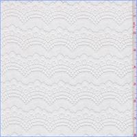 *4 YD PC--White Nylon Fan Lace