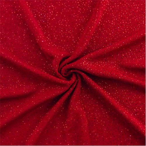 Lipstick Red Sparkle Glitter Flock Slinky Knit 67681