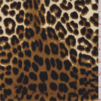 *3 3/8 YD PC--ITY Yellow/Brown Cheetah Jersey Knit