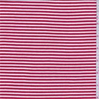 *3 1/4 YD PC--Red/White Stripe Rayon Jersey Knit