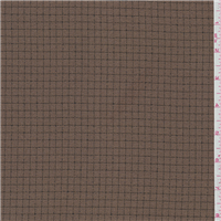 *3 YD PC--Copper Brown Check Suiting