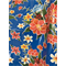 *1 1/2 YD PC--Blue Hibiscus Oilcloth