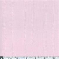 *3 3/8 YD PC--Light Pink Crinkle Gauze Leno Stripe Shirting