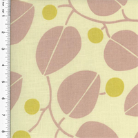 *2 YD PC- Designer Cotton Yellow/Pink Leaf Print Home Decorating Fabric
