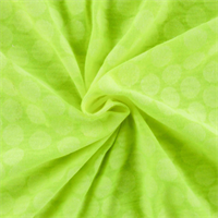 *1 YD PC--Neon Yellow Polka Dot Jersey Knit