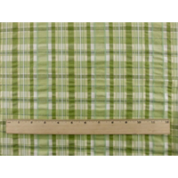 *3 YD PC--Green Seersucker Plaid Home Decorating Fabric