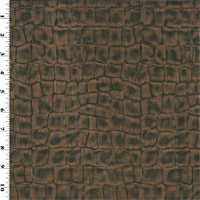 *2 YD PC--Bronze/Black Faux Alligator Leather Upholstery