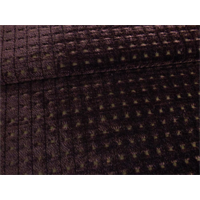 *3 YD PC--Merrimac Espresso Brown Gridlock Chenille Upholstery Fabric