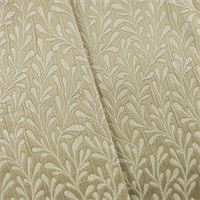 *8 Yard Piece -Beige/Ivory Leaf Jacquard Home Decorating Fabric
