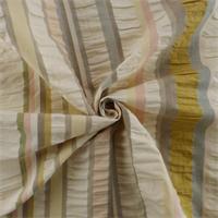 *2 1/2  YD PC - Ivory/Multi Seersucker Stripe Home Decorating Fabric