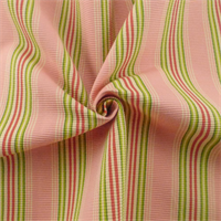 *6 YD PC -Pink/Multi Ottoman Stripe Home Decorating Fabric