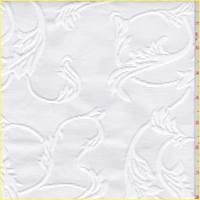 Shabby Chic Winter White Leaf Matelasse
