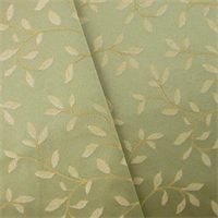 *2 YD PC - Green/Beige Vine Satin Jacquard Home Decorating Fabric