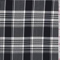 Black/White Plaid Scuba Knit