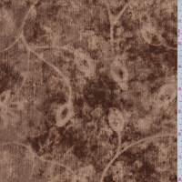 Copper Floral Chenille