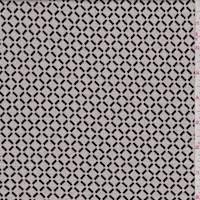 Ecru/Black Lattice Jacquard Knit