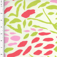 *1 YD PC - Designer Cotton Abstract Pink/Green Print Home Decorating Fabric