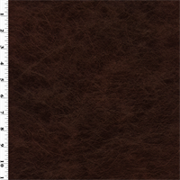 *2 YD PC--Faux Leather - Dark Mahogany Brown
