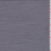 Steel Grey Railroad Stripe Wool Blend Suiting