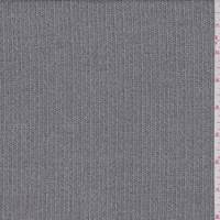 Grey Multi Stripe Wool Blend Suiting