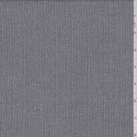 Grey Multi Stripe Wool Blend Suiting