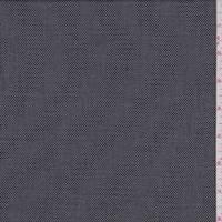Dark Navy/Grey Wool Blend Suiting