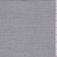 Ecru Heather Mini Check Wool Blend Suiting