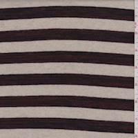 Beige/Ruby Stripe Sweater Knit