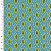 *8 1/2 YD PC - Designer Cotton Blue/Green Foulard Print Home Decorating Fabric