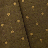 *4 YD PC - Golden Brown Polka Dots Decorating Fabric