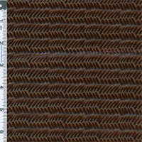 *4 YD PC--Bronze Brown Tortoise Shell Herringbone Patent Leather Upholstery Fabric