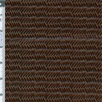 *4 YD PC--Bronze Brown Tortoise Shell Herringbone Patent Leather Upholstery Fabric