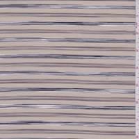 *5 YD PC--Sandy Beige Striped Shirting
