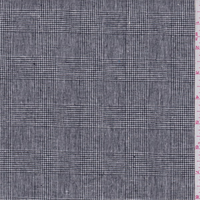 *3 YD PC--Black/White Glenplaid Linen Blend
