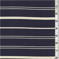 *2 1/2 YD PC--Navy/Ivory Stripe Suiting