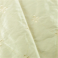 *1 1/2 YD PC - Pearl White Quilted Shantung Home Decorating Fabric