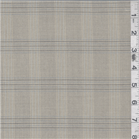 *3 5/8 YD PC--Tan Plaid Suiting