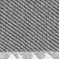 *1 PIECE--Black/Grey Fringed Wool Throw