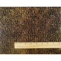 *3 1/2 YD PC--Black/Iridescent Bronze Crosshatch Glitter Slinky Knit