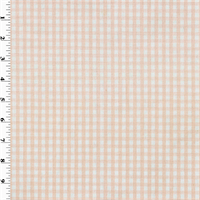 "*1  YD PC--3/8"" Pink Gingham Print Home Decorating Fabric"