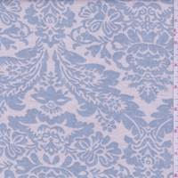 Ecru/Dusty Blue Shabby Chic Baroque Linen
