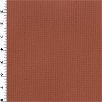 *2 YD PC - Double Sided Grid Fleece - Rust Orange