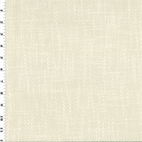 *1 1/2 YD PC -Ivory Canali Herringbone Home Decorating Fabric