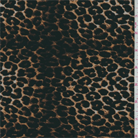 *2 1/2 YD PC--ITY Brown/Black Leopard Jersey Knit